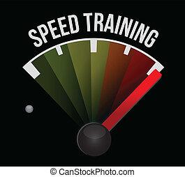 entrenamiento, concepto, velocidad