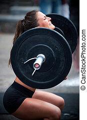 entrenamiento, cruz, condición física