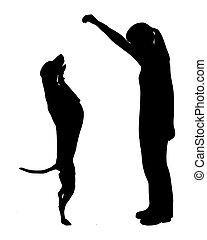entrenamiento del perro, (obedience):, command:, arriba