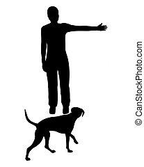 entrenamiento del perro, (obedience):, command: