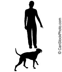 entrenamiento del perro, (obedience):, command:, come!
