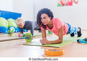 entrenamiento, delfín, yoga, deportivo, antebrazo, club, ...