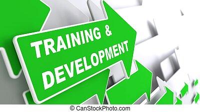 entrenamiento, development., educación, concept.