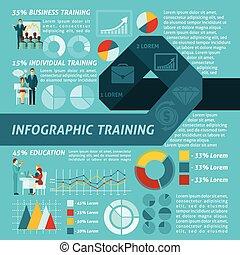 entrenamiento, empresa / negocio, infographics