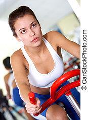entrenamiento, en, deporte, equipo
