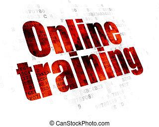 entrenamiento, en línea, plano de fondo, digital, educación, concept: