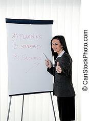 entrenamiento, entrenador, rotafolio, english., educación