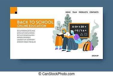 entrenamiento, escuela, espalda, cursos, educación en línea,...