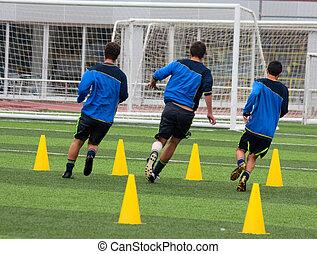 entrenamiento, futbol