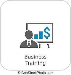 entrenamiento, icon., empresa / negocio