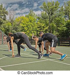 entrenamiento, intenso, condición física