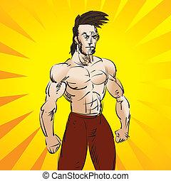 entrenamiento, luchador