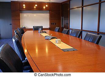 entrenamiento, o, corporativo, reunión, room.