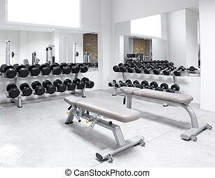 entrenamiento, peso, club, equipo de gimnasio, condición...
