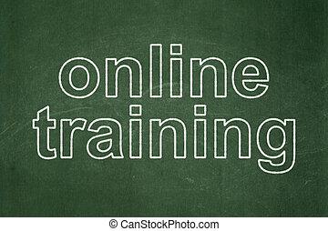 entrenamiento, pizarra, plano de fondo, educación en línea, concept: