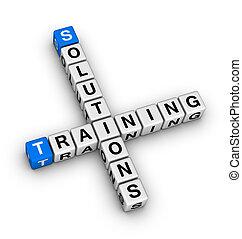 entrenamiento, solución