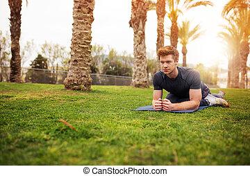 entrenamiento, yoga