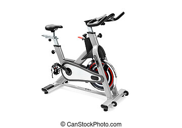 entrenamientos, equipo de gimnasio, máquina, girar, cardio