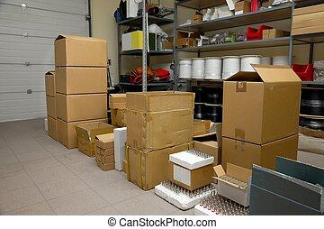 entrepôt, équipement, stockage