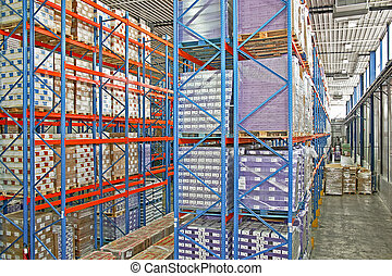 entrepôt, étagère