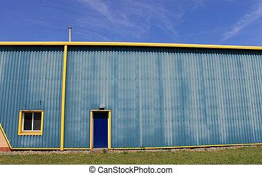 entrepôt, bâtiment, industriel
