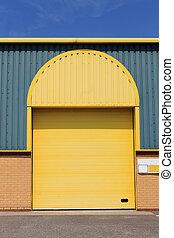 entrepôt, bâtiment, moderne
