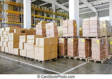 entrepôt, boîtes