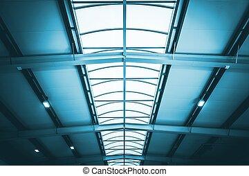 entrepôt, commercial, toit
