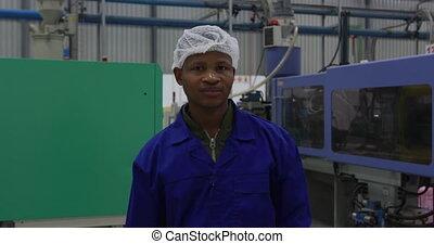 entrepôt, fonctionnement, homme, jeune