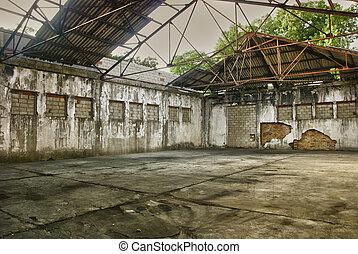 entrepôt, industriel, abandonnés