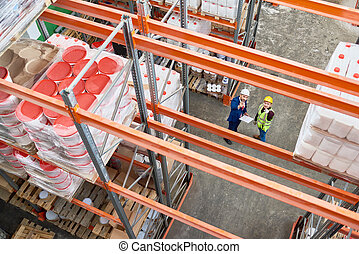 entrepôt, inspection