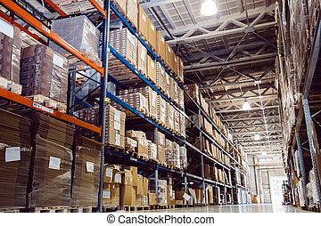 entrepôt, logistique, important