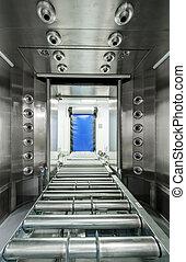 entrepôt, moderne, automatisé