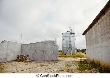 entrepôt, nouveau, construction