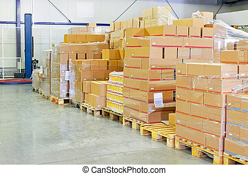 entrepôt, paquet