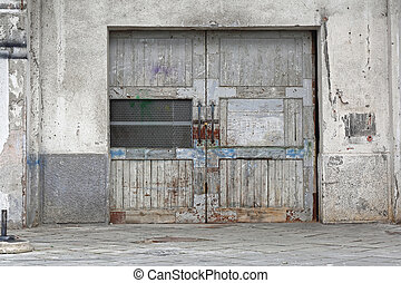 entrepôt, porte