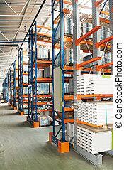 entrepôt, production, magasin, meubles