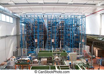 entrepôt, robots, automatisé