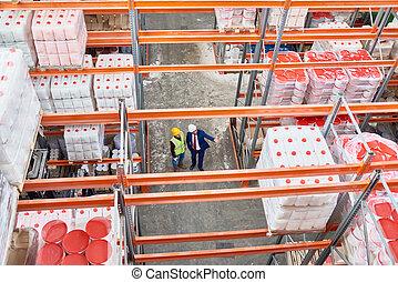 entrepôt, stockage, fond