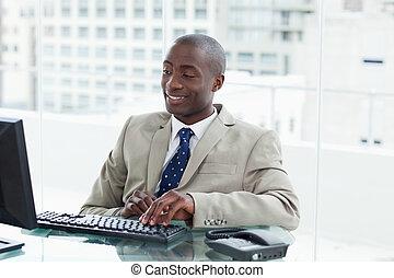 entreprenör, dator, användande