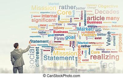 entreprenör skriva, ledarskap, skicklighet, begrepp