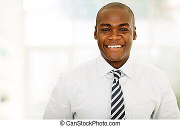 entrepreneur, américain, bureau, africaine