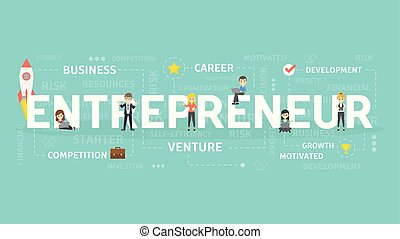 Entrepreneur concept illustration. Idea of venture, business...