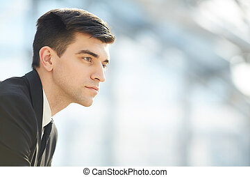 Entrepreneur deep in thoughts
