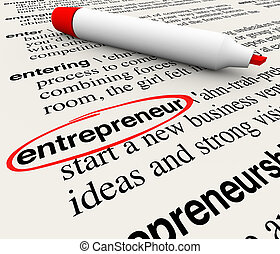 Entrepreneur Dictionary Definition Business Startup Leader Visionary