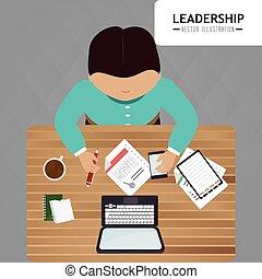 entrepreneur, direction, conception, business