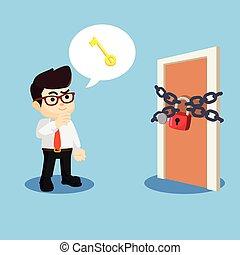 entrepreneur got the idea to open the lock