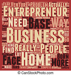 entrepreneur home based business 1 text background wordcloud concept