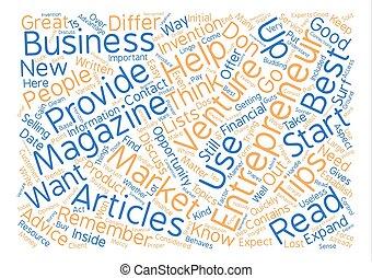 Entrepreneur Magazine l text background word cloud concept