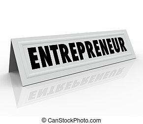 Entrepreneur Name Tent Card Expert Business Owner Advice